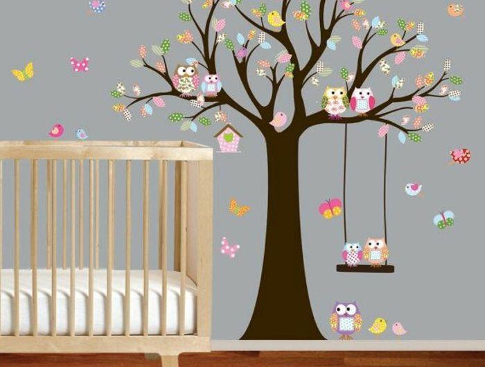 Les 25 meilleures id es de la cat gorie stickers muraux for Pochoir chambre bebe
