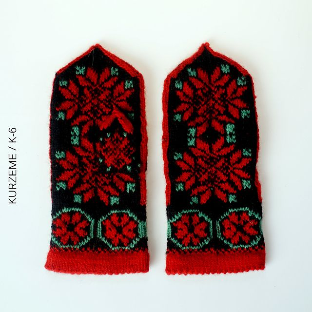 Ravelry: The Latvian Traditional Mitten Pattern - KURZEME / Pattern K-6 pattern by Traditional Design