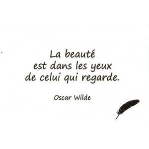 Carte Postale - Citation d'Oscar Wilde