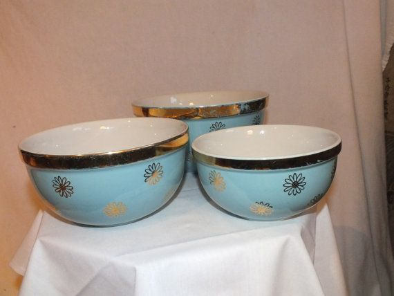Hall's Superior Quality Kitchenware Blue Nesting by MamaSarasStuff