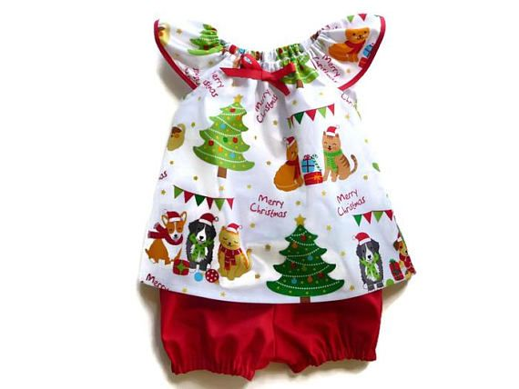 Baby Christmas outfit  girls Christmas outfit  toddler
