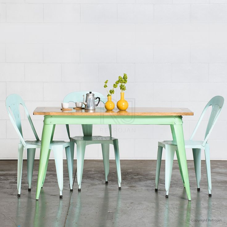 Small Retro Nash Table - Mint Green | $349.00