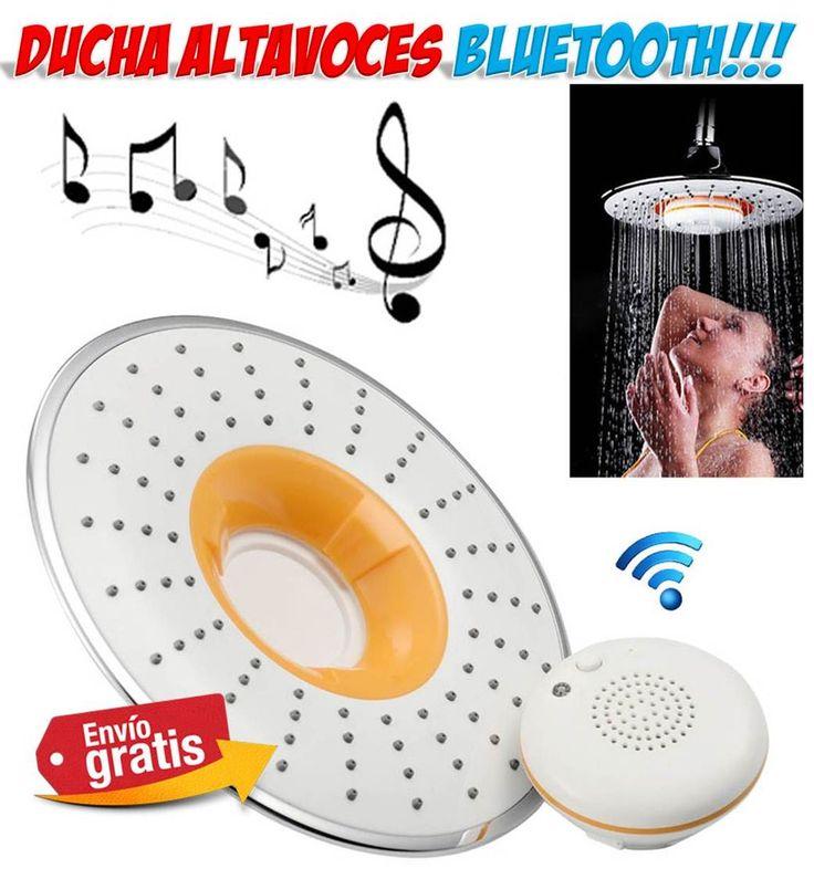 #ducha #hogar #altavoces #bluetooth #gadgets #baño Ducha altavoces bluetooth para cantar en el baño. http://www.yougamebay.com/es/product/cabezal-de-ducha-musical-con-altavoces-bluetooth---accesorios-bano