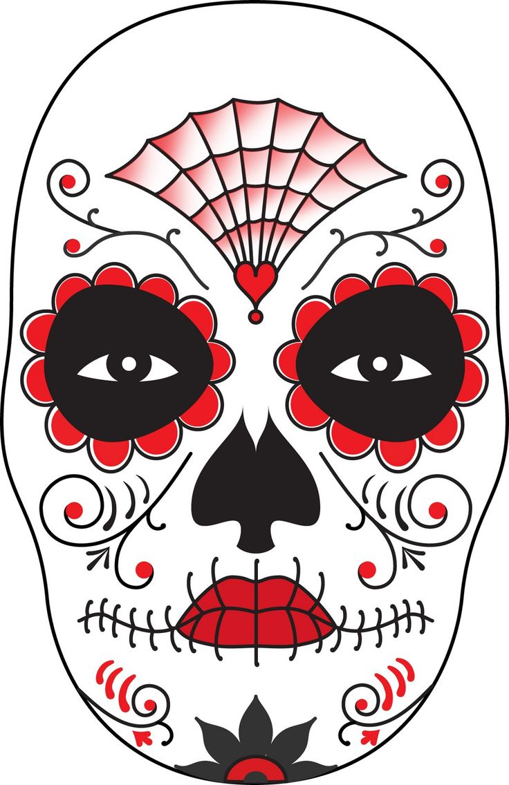 surface fragments: How To Make a Day of The Dead Mask