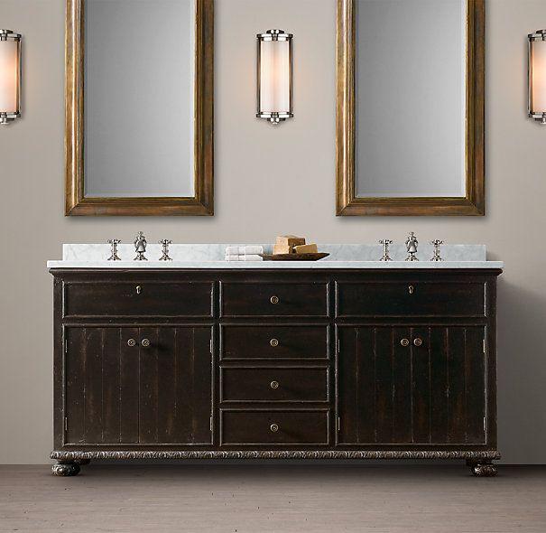 Bathroom Vanity Restoration Hardware 59 best upstairs master & bath - vanity images on pinterest | bath
