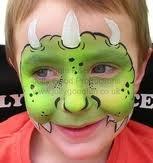 face paint dinosaur mask