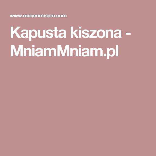 Kapusta kiszona -  MniamMniam.pl