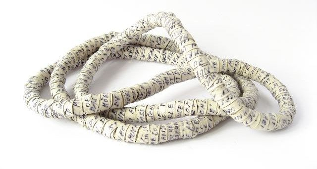 Susanne Matsché - snake of thoughts: leather, textile