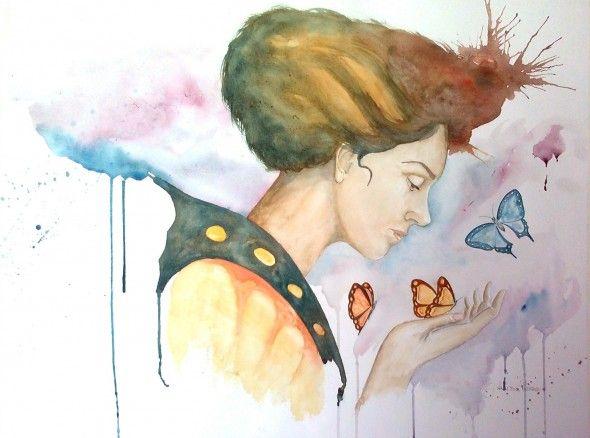 Obra de arte: Mariposas Artistas y arte. Artistas de la tierra