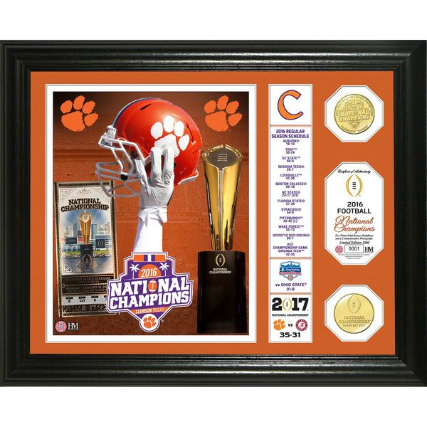 Clemson Tigers Highland Mint College Football Playoff 2016 National Champions Banner Bronze Coin Photo Mint - $99.99