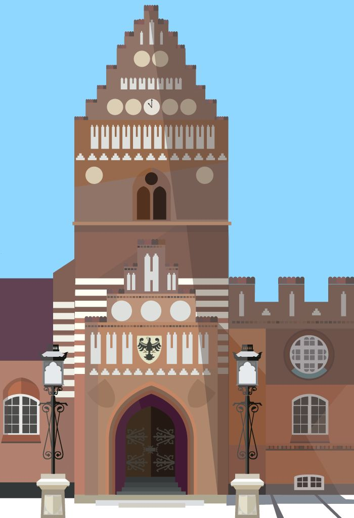 "Stændertorvet in Roskilde - The former Roskilde Town Hall illustrated by #Sivellink ""An Icon a Day"""