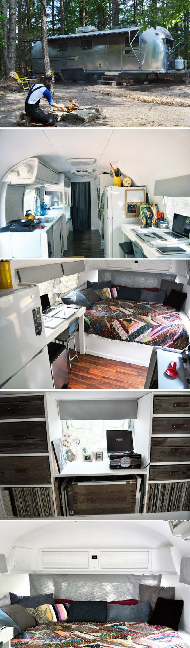 A 188 sq ft home made from a remodelled Airstream trailer
