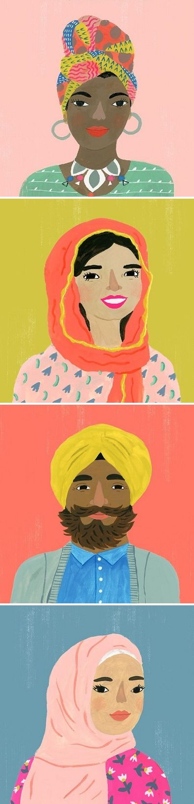 Illustration by Sarah Walsh for Hats of Faith <3