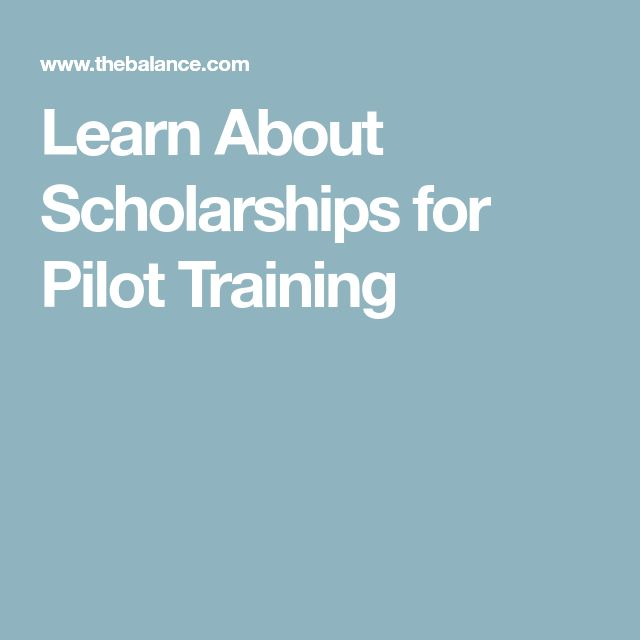 Learn About Scholarships for Pilot Training