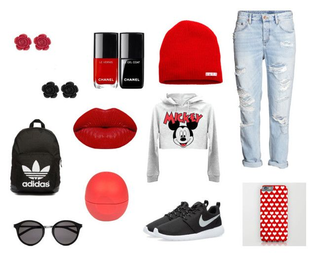 """Jarní oblečení"" by jana-zy on Polyvore featuring H&M, Neff, NIKE, Winky Lux, River Island, adidas Originals and Yves Saint Laurent"