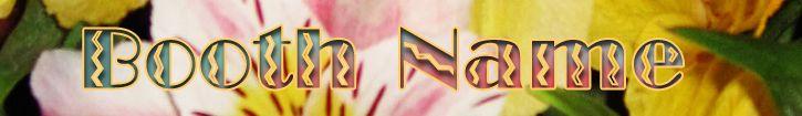 Customized Bonanza Booth or Website Banner Floral Background Design #websitebanners