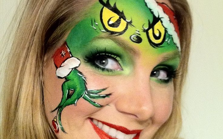 christmas face painting designs | The Grinch - Christmas Face Painting - YouTube