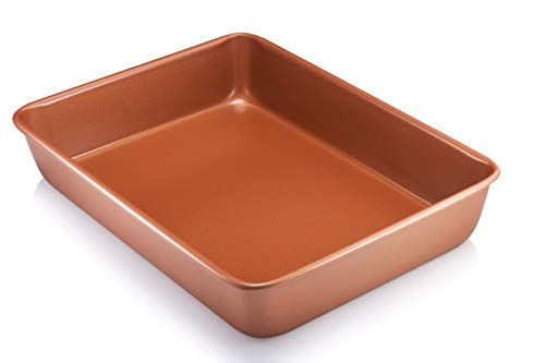 Steel Xl Nonstick Copper 12 Chef S Square Shallow Fry Pan With Ebook With Images Nonstick Bakeware Gotham Steel Stoneware Baker