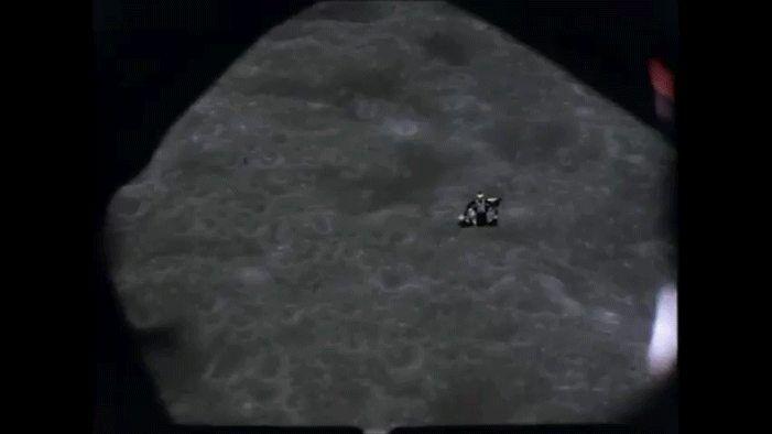 Apollo 16 ascent stage docking [701 x 394] http://ift.tt/2jip2bK