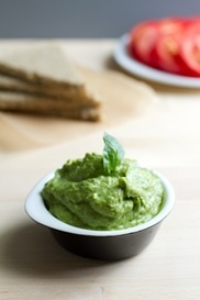 Avocado basil pesto with walnuts. See previous pin for details