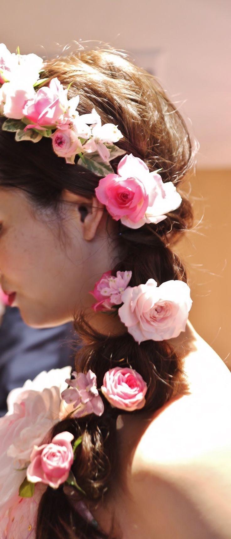 #koriyamamonolithi#novarese#vressetrose#wedding #pink #smokypink #natural #flower #bridal#郡山モノリス#ノバレーゼ#ブレスエットロゼ #ウエディング# ピンク #スモーキーピンク #シンプル #ナチュラル# ブライダル#結婚式#ヘア
