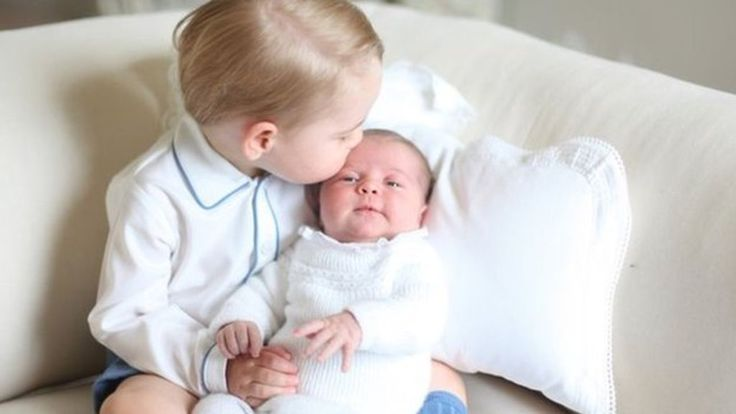 """A series of """"very special"""" photos of Prince George and his younger sister Princess Charlotte are released by Kensington Palace."""