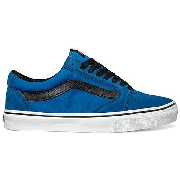 Vans TNT 5 Royal / Blue / Black Skateboard Shoes (VN-0L2Z77L) ❤ liked on Polyvore featuring shoes