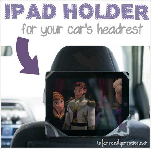 Ipad holder for your car's headrest - super simple 30 minute project