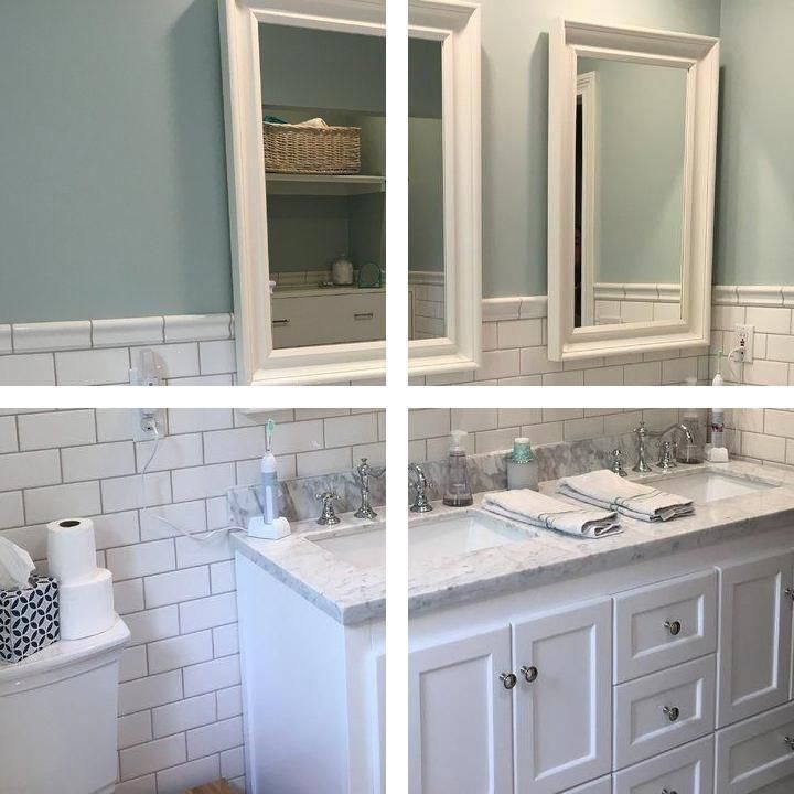 His And Hers Bathroom Set Dark Blue Bathroom Decor Mirrored Bath Accessories Blue Bathroom Decor Bathroom Decor Silver Bathroom Accessories