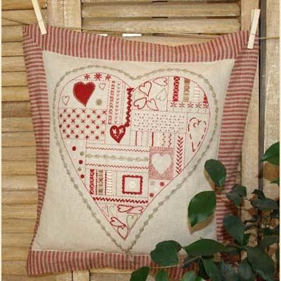 Redwork embroidery is so gorgeous.  Maybe because I love the color red so much!