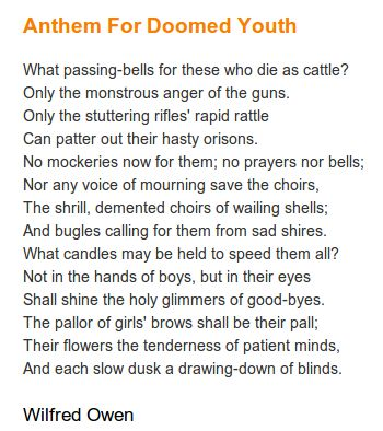 anthem for doomed youth essay anthem for doomed youth by wilfred owen poetry reading mwl example and illustration essay topics