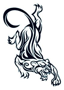 Tiger/Panther Henna Tattoo, kind of how I want my tiger poised.