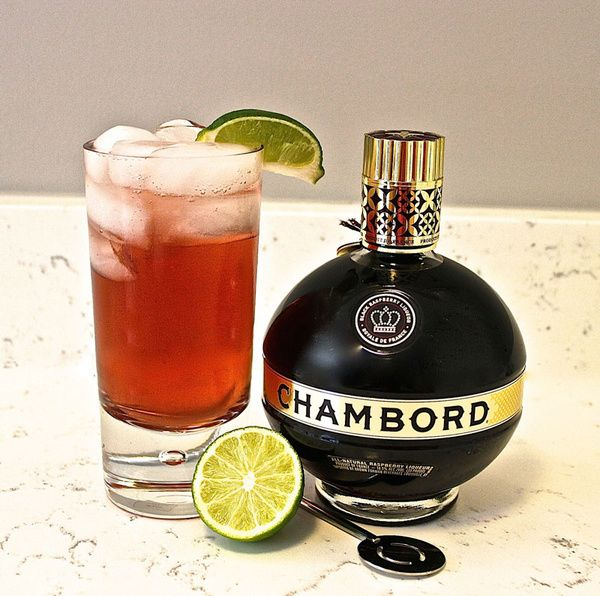 My new drink! Chambord Vodka Soda Clinton Kelly