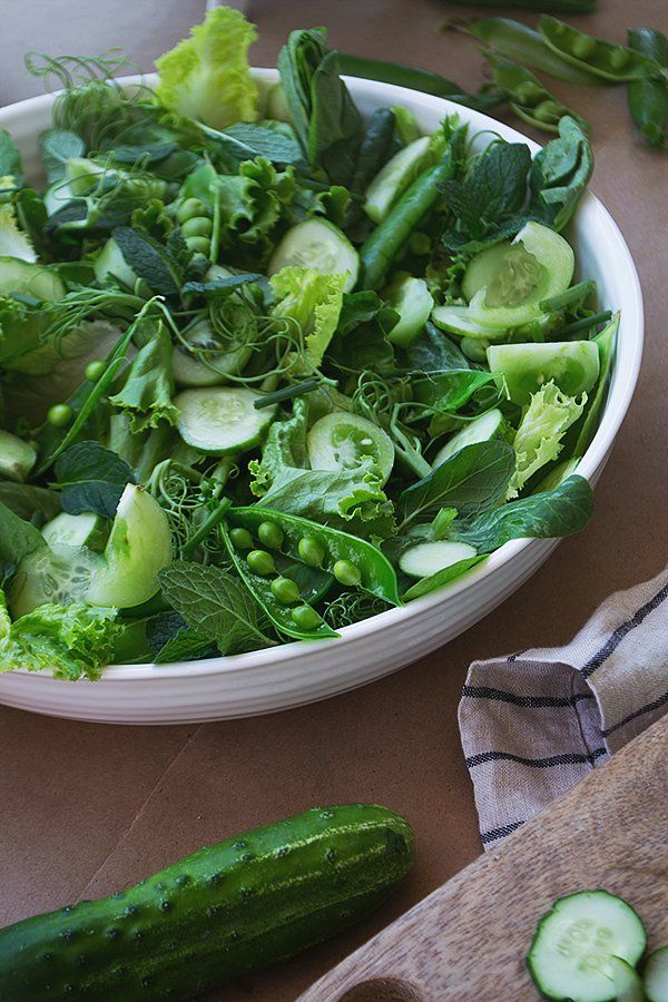 ... cucumbers with green goddess dressing, via @kchysmith | Fast and Easy