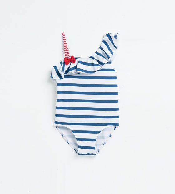 Image 1 de Maillot de bain à rayures de Zara