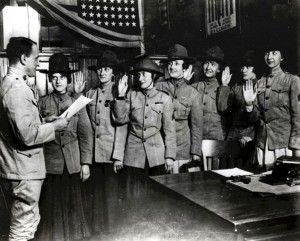 Primeiras mulheres da Marinha Americana - 1918