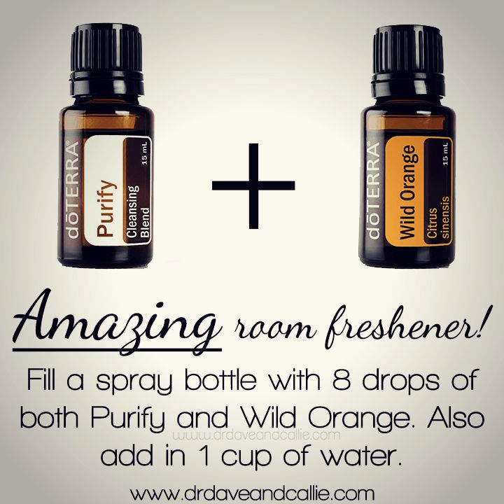 #dōTERRA #Purify + #WildOrange: Amazing room #freshener! Fill a spray bottle with 8 drops of both Purify and Wild Orange. Also add in 1 cup of water.