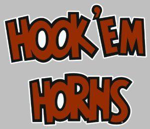 University Of Texas Longhorns Decal Texas Hook Em Horns  Automotive