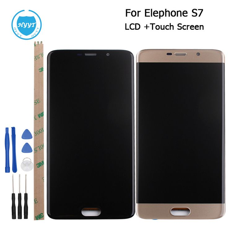 Elephone S7 LCD Display and Touch Screen Assembly Screen Digitizer Replacement With Tools For Elephone S7 Mobile Accessories