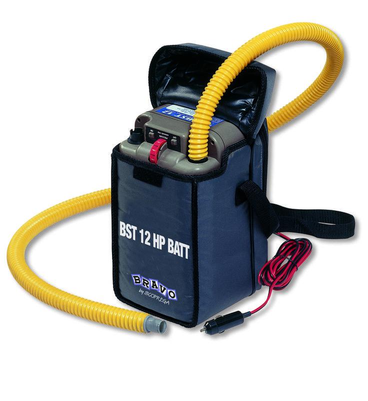 Bravo's BST 12 HP BATT  (New Model) Piston flow rate : 150L/ per min Turbine flow rate :450 Lt/ per min Turbine flow rate :450 Lt/ per min Consumption :20 A Max