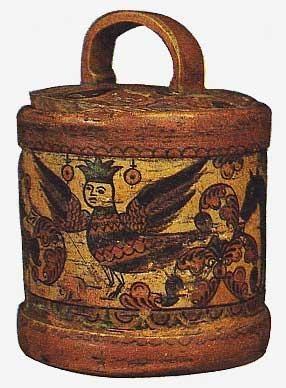 Россия.Короб.Береста.19 век
