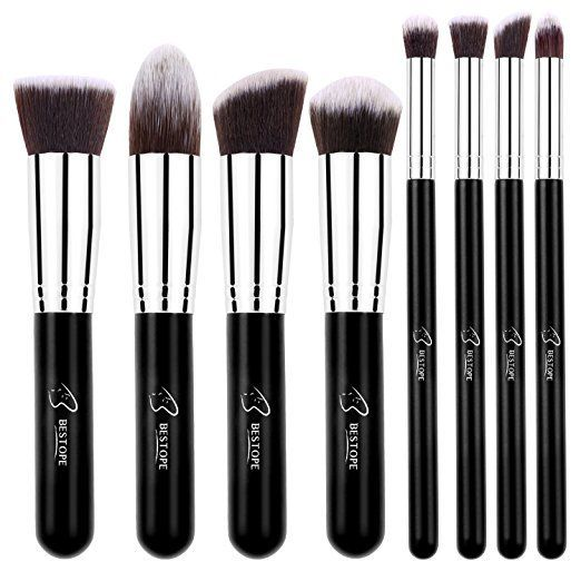 BESTOPE Makeup Brushes 8 Pieces Makeup Brush Set Professional Face Eyeliner Blush Contour Foundation Cosmetic Brushes for Powder Liquid Cream    Price $15.99  Sale $7.99 & FREE Shipping on orders over $35. Details  You Save $8.00 (50%)