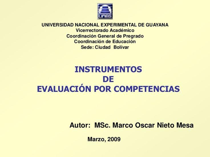 Material instruccional sobre Instrumentos de Evaluación Formativa bajo el enfoque por competencias.