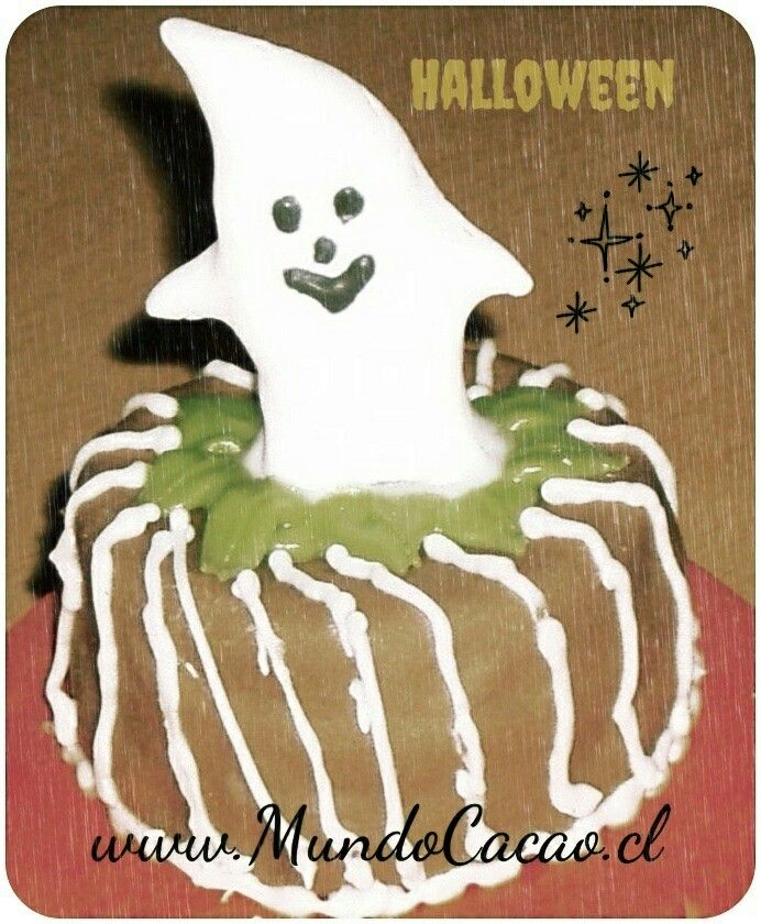 Mini torta de alfajor decorada Halloween