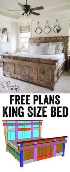 DIY Woodworking Ideas DIY King Size Bed Free Plans