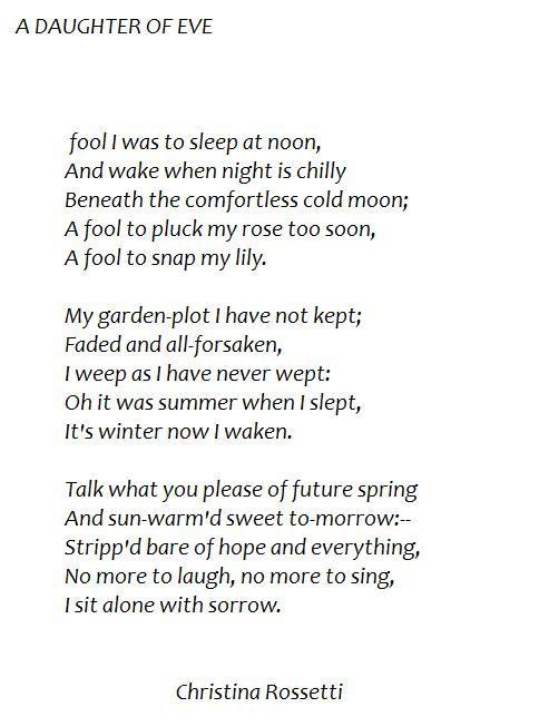 Poem a birthday by christina rossetti