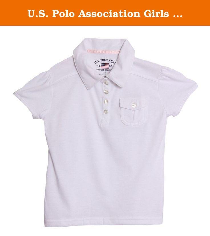 U.S. Polo Association Girls School Uniform White Fashion Uniform Shirt. short sleeve school uniform shirt / four buttons in front / 60%cotton, 40% polyester / By: U.S. Polo /.
