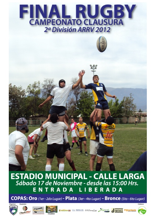 Afiche Halcones, Final Rugby.