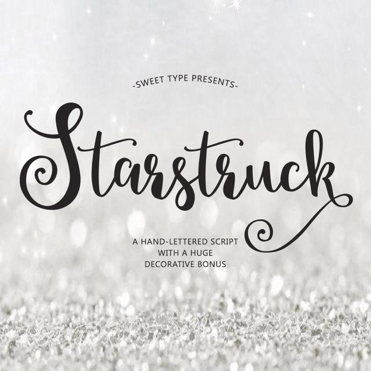 Starstruck Hand-lettered font download - Calligraphy script - commercial or personal (12.00 USD) by EmilySpadoni
