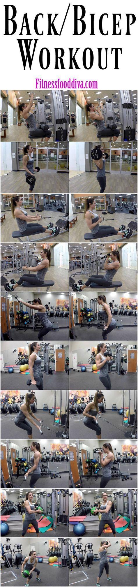 Free Back/Bicep Workout | Fitness Food Diva